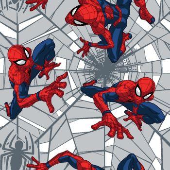 Marvel Fabric - Spiderman Web Crawler - 100% Cotton - 1/4m+