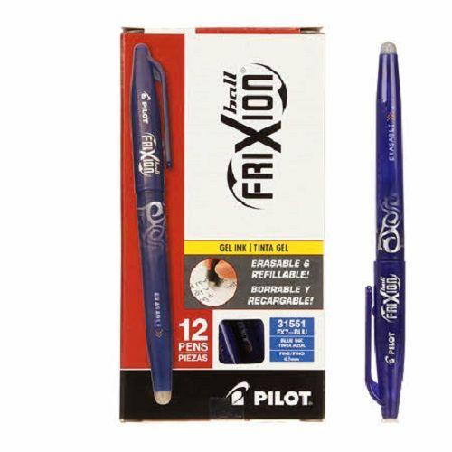 Pilot Frixion Fine Point 0.7mm Erasable Gel Pen - Blue