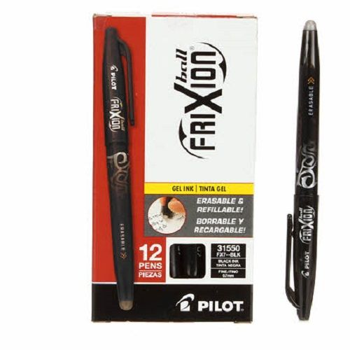 Pilot Frixion Fine Point 0.7mm Erasable Gel Pen - Black Ink