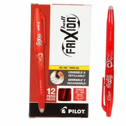 Pilot Frixion Fine Point 0.7mm Erasable Gel Pen - Red Ink