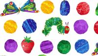 The Very Hungry Caterpillar Fabric - Hungry Caterpillars - 100% Cotton - 1/4m+