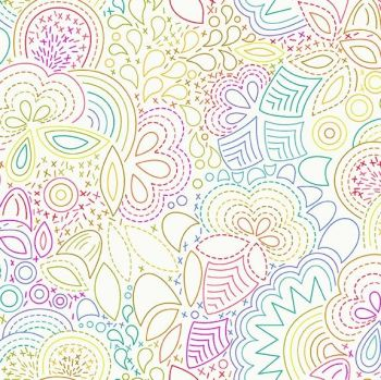 Andover Fabric - Alison Glass - Art Theory - Rainbow Stitched - Day - 100% Cotton - 1/4m+