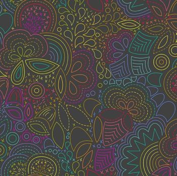 Andover Fabric - Alison Glass - Art Theory - Rainbow Stitched - Night - 100% Cotton - 1/4m+