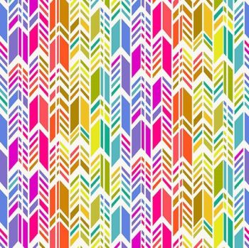 Andover Fabric - Alison Glass - Art Theory - Rainbow Feather - Day - 100% Cotton - 1/4m+