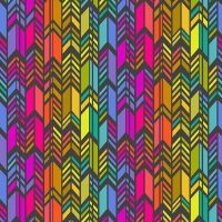 Andover Fabric - Alison Glass - Art Theory - Rainbow Feather - Night - 100% Cotton - 1/4m+