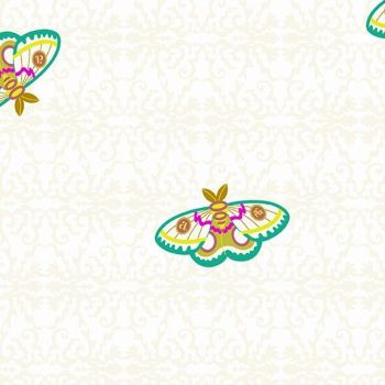 Andover Fabric - Alison Glass - Art Theory - Rainbow Moth - Day - 100% Cotton - 1/4m+