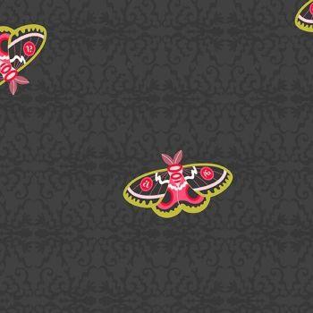 Andover Fabric - Alison Glass - Art Theory - Rainbow Moth - Night - 100% Cotton - 1/4m+