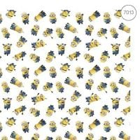 Disney Fabric - Wide Organic Cotton Poplin - Despicable Me 3 Minions - 150cm wide - Half Metre