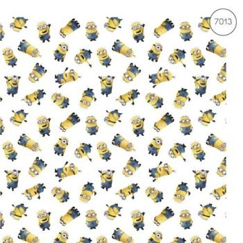 Disney Fabric - Wide Organic Cotton Poplin - Despicable Me 3 Minions - 150cm wide - Half Metre