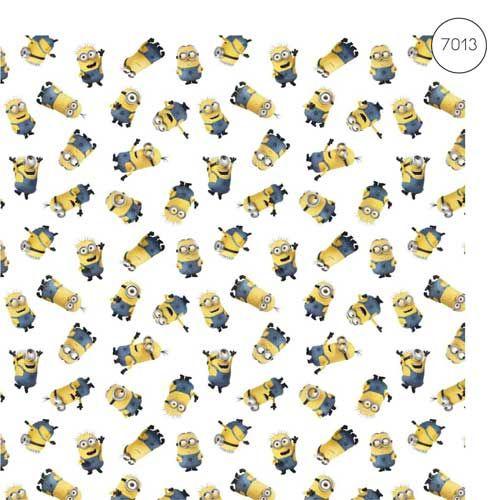 Disney Fabric - Wide Cotton Poplin - Despicable Me 3 Minions - 150cm wide -