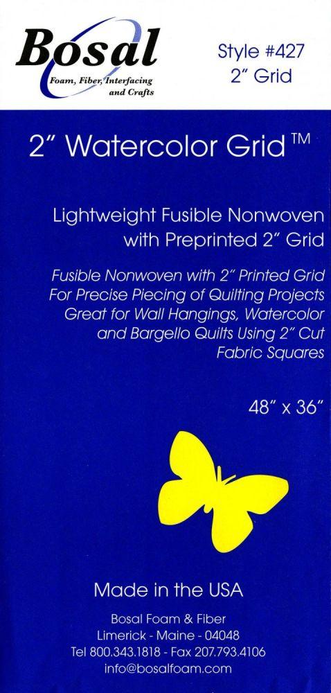 Bosal - Watercolour Grid - Lightweight Fusible Nonwoven Interfacing - 2