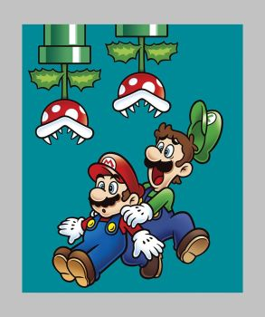 "Nintendo Fabric - Mario Bros Jump Panel 36"" - 100% Cotton"
