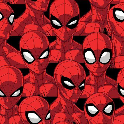 Marvel Fabric - Spiderman Spider Sense - 100% Cotton - 1/4m+