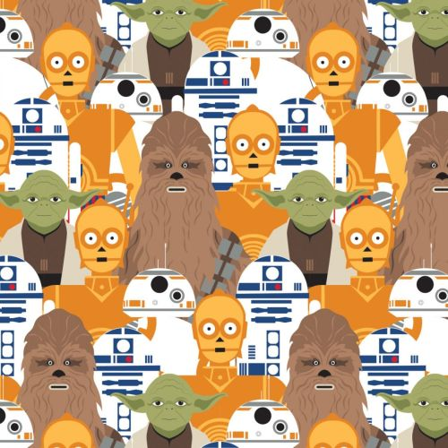 Star Wars Fabric - Character Portrait Stacked - 100% Cotton - 1/4m+