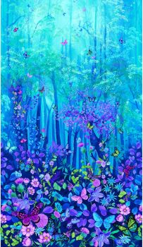 Timeless Treasures Fabric - Forest Magic Digital Panel - 100% Cotton