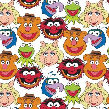 Disney Fabric - The Muppets Cast - 100% Cotton - 1/4m+