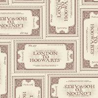 Harry Potter Fabric - Ticket to Hogwarts - Cream - 100% Cotton - 1/4m+