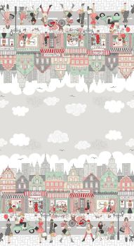 Makower Fabric - Pamper - Double Border - 100% Cotton - 60cm repeat
