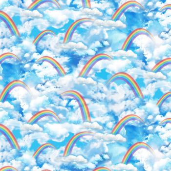 Timeless Treasures Fabric - Rainbow Sky - 100% Cotton - 1/4m+