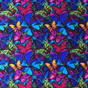 Sykel Enterprises Fabric - Butterflies in Flight - Packed - 100% Cotton - 1/4m+