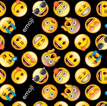 David Textiles Fabric - Classic Emojis - 100% Cotton - 1/4m+