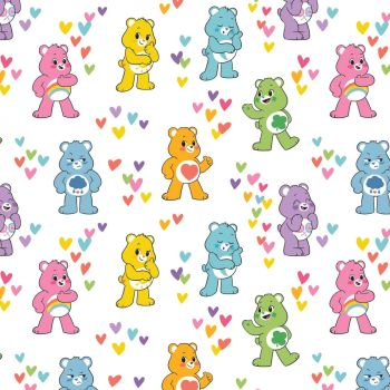 Care Bears Fabric - Care Bears Believe Friends - 100% Cotton - 1/4m+