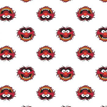 Disney Fabric - The Muppets - Animal White - 100% Cotton - 1/4m+