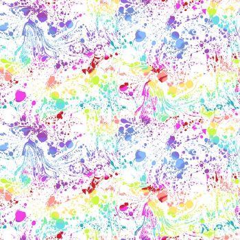 Andover Fabric - Libs Elliot - Beguiled - Venom - White - 100% Cotton - 1/4m+