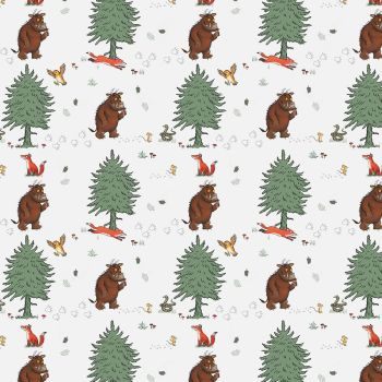 The Gruffalo Fabric - Walk in the Woods - White - 100% Cotton - 1/4m+
