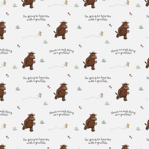The Gruffalo Fabric - No Such Thing - White - 100% Cotton - 1/4m+