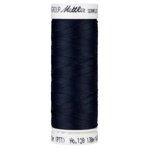 Mettler Thread - Seraflex Stretch - 130m Reel - Darkest Blue 0821