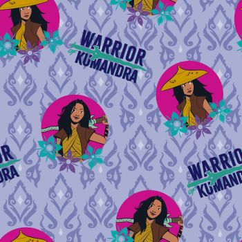 Disney Fabric - Raya and the Last Dragon - Raya Badge - 100% Cotton - 1/4m+