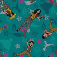 Disney Fabric - Raya and the Last Dragon - Team Raya - 100% Cotton - 1/4m+
