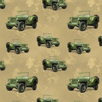Nutex Fabric - Battlezone - Jeep - 100% Cotton - 1/4m+