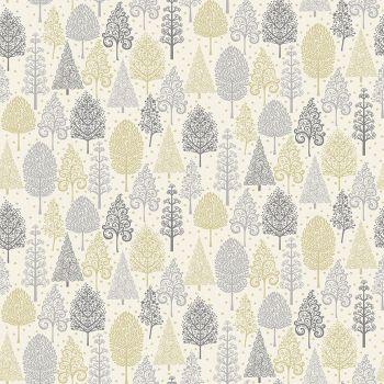 Makower Fabric - Scandi Christmas - Trees - Grey - 100% Cotton - 1/4m+