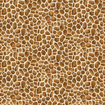 Makower Fabric - Around the World - Giraffe - Natural - 100% Cotton - 1/4m+