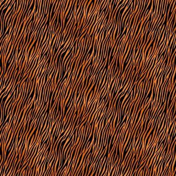 Makower Fabric - Around the World - Zebra Tiger - Orange - 100% Cotton - 1/4m+