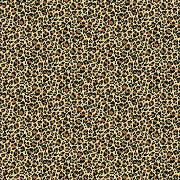 Makower Fabric - Around the World - Leopard - Hessian - 100% Cotton - 1/4m+