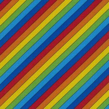 Nutex Fabric - Rainbow Stripe - 100% Cotton - 1/4m+