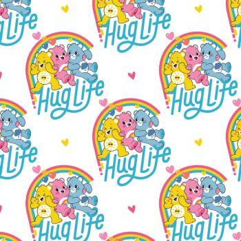 Care Bears Fabric - Care Bears Believe Hug Life - 100% Cotton - 1/4m+