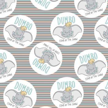 Disney Fabric - Dumbo - Star of the Show - 100% Cotton - 1/4m+