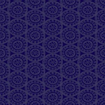 Makower Fabric - Henna - Medallions - Purple - 100% Cotton - 1/4m+