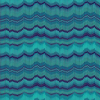 Makower Fabric - Henna - Moire Stripe - Turquoise - 100% Cotton - 1/4m+