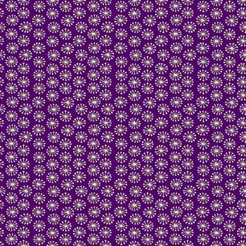 Makower Fabric - Henna - Pop - Purple - 100% Cotton - 1/4m+