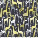 Michael Miller Fabric - Grey - Giraffe Love - Cotton