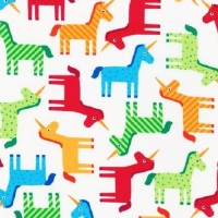 Robert Kaufman Fabric - Bright Unicorns - Wonder - Cotton