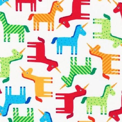 Robert Kaufman - Bright Unicorns - Wonder - Cotton