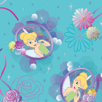 Disney Fabric - Tinkerbell Petal Perfect - 100% Cotton