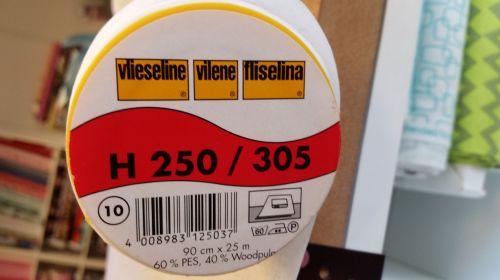 Vilene H2500/305 - Firm, Non woven, iron on fusible interfacing