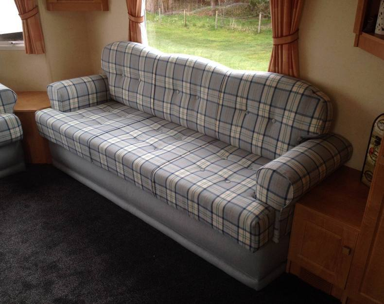 caravan sofa..